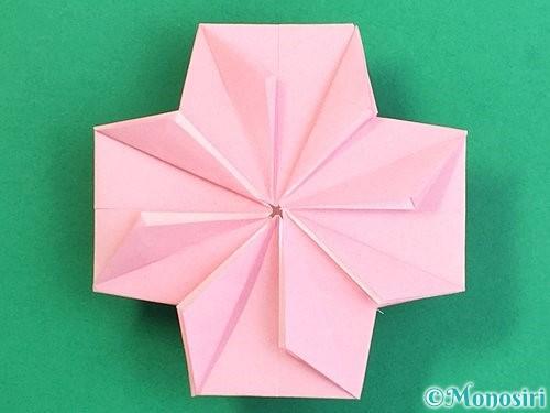 折り紙でコスモスの折り方手順46