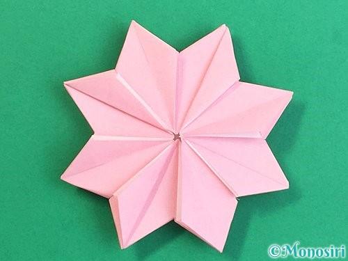 折り紙でコスモスの折り方手順48