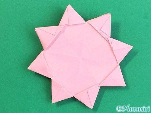 折り紙でコスモスの折り方手順49