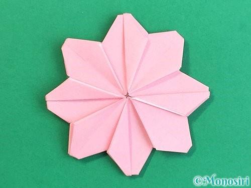 折り紙でコスモスの折り方手順51