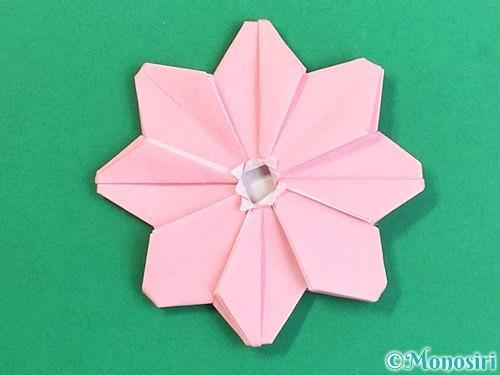 折り紙でコスモスの折り方手順53