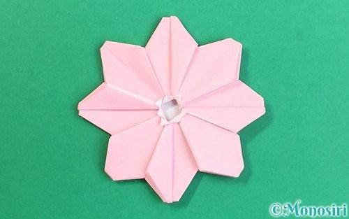 折り紙で折ったコスモス