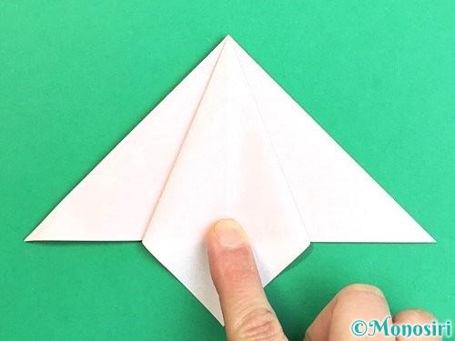 折り紙で立体的なガーベラの折り方手順13