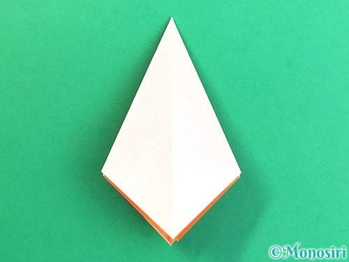 折り紙で立体的なガーベラの折り方手順15