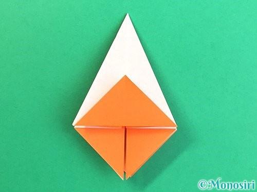 折り紙で立体的なガーベラの折り方手順17