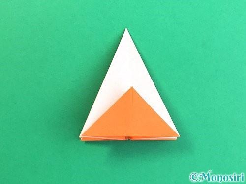 折り紙で立体的なガーベラの折り方手順18