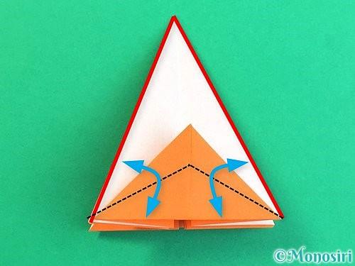 折り紙で立体的なガーベラの折り方手順19