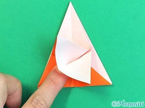 折り紙で立体的なガーベラの折り方手順20