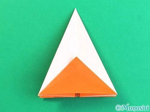 折り紙で立体的なガーベラの折り方手順21