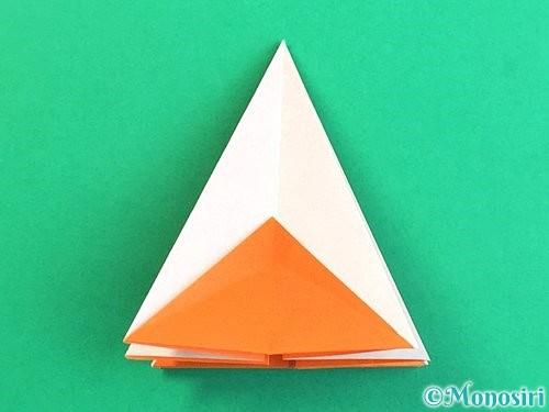 折り紙で立体的なガーベラの折り方手順22