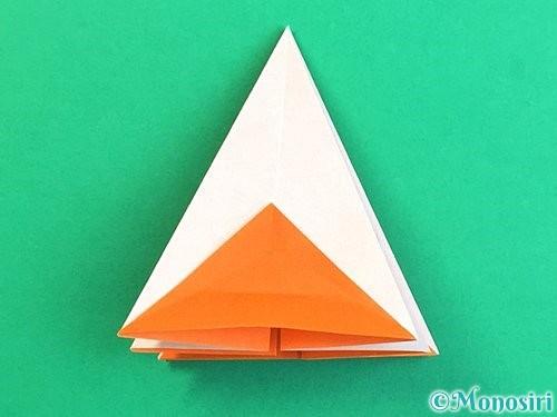 折り紙で立体的なガーベラの折り方手順24