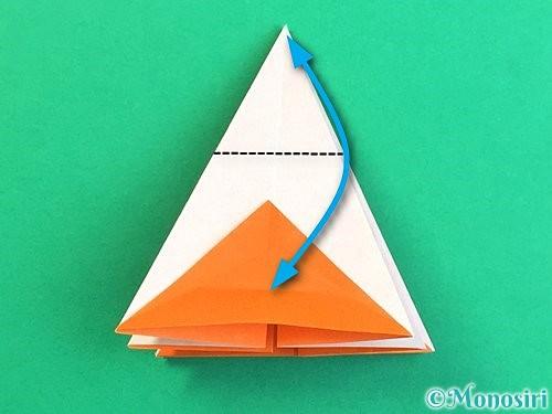 折り紙で立体的なガーベラの折り方手順25