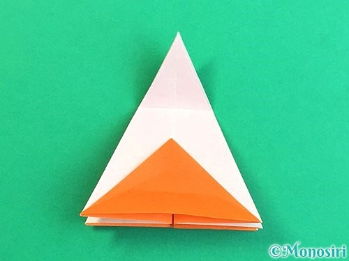 折り紙で立体的なガーベラの折り方手順26