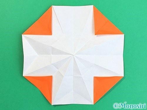 折り紙で立体的なガーベラの折り方手順27