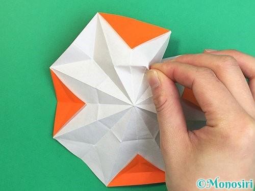 折り紙で立体的なガーベラの折り方手順29