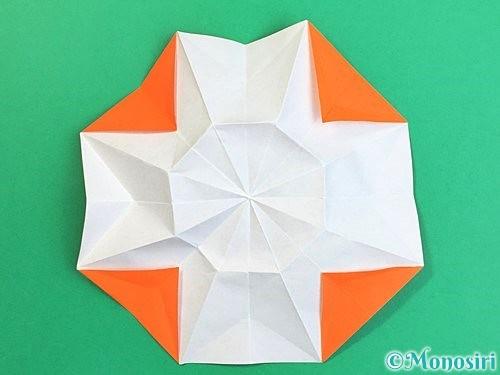折り紙で立体的なガーベラの折り方手順30