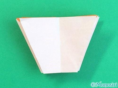 折り紙で立体的なガーベラの折り方手順34