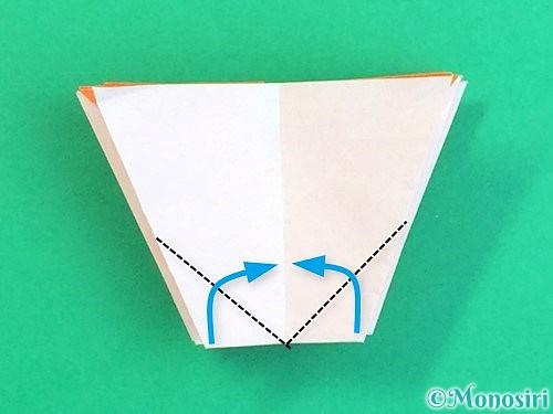 折り紙で立体的なガーベラの折り方手順35