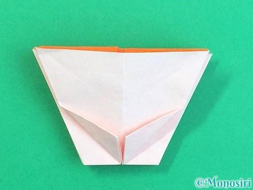 折り紙で立体的なガーベラの折り方手順36