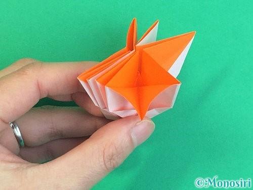 折り紙で立体的なガーベラの折り方手順40