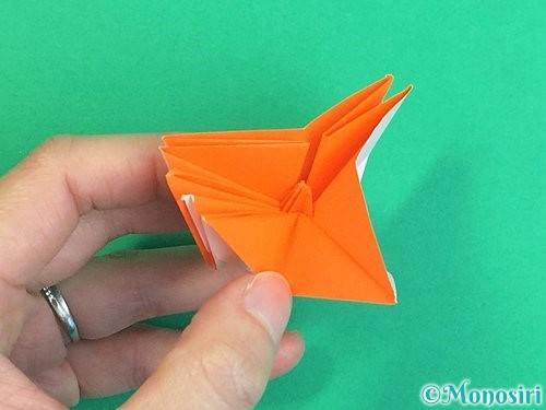 折り紙で立体的なガーベラの折り方手順41