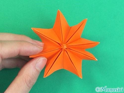 折り紙で立体的なガーベラの折り方手順42