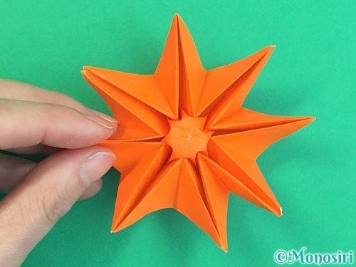折り紙で立体的なガーベラの折り方手順44