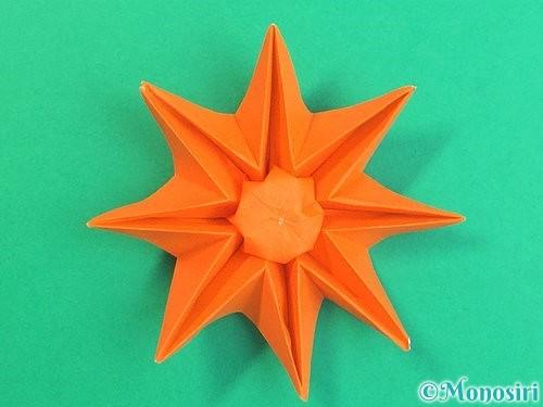 折り紙で立体的なガーベラの折り方手順45