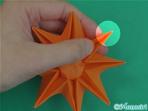 折り紙で立体的なガーベラの折り方手順46