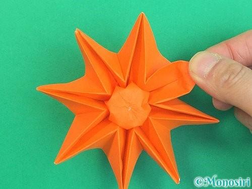 折り紙で立体的なガーベラの折り方手順47