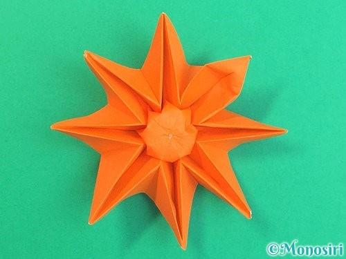 折り紙で立体的なガーベラの折り方手順48