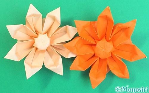 折り紙で作った立体的なガーベラ