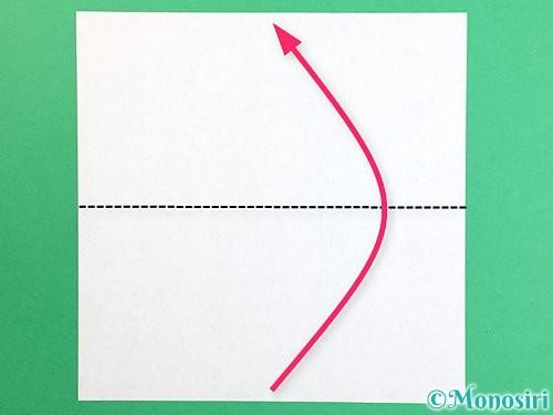 折り紙で立体的なリンドウの折り方手順1