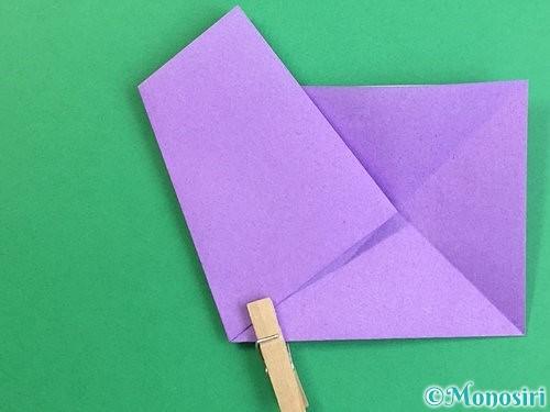 折り紙で立体的なリンドウの折り方手順6
