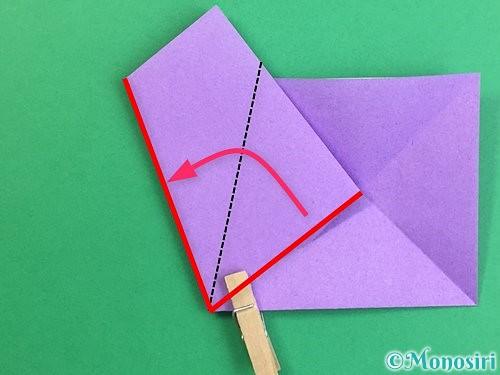 折り紙で立体的なリンドウの折り方手順7