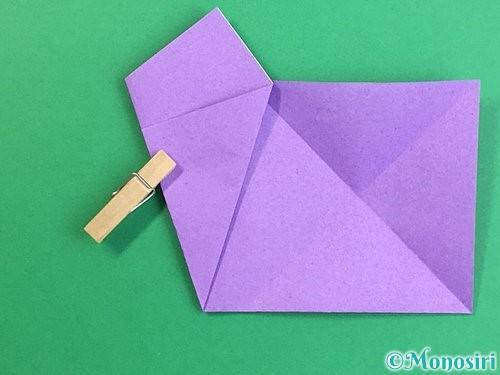 折り紙で立体的なリンドウの折り方手順8