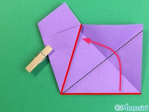 折り紙で立体的なリンドウの折り方手順9