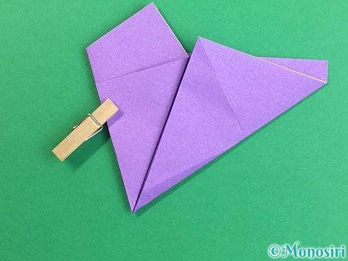 折り紙で立体的なリンドウの折り方手順10