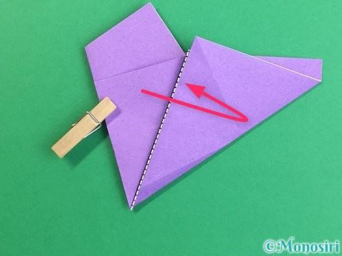 折り紙で立体的なリンドウの折り方手順11