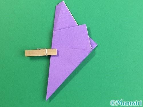 折り紙で立体的なリンドウの折り方手順12