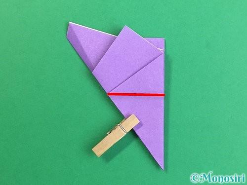 折り紙で立体的なリンドウの折り方手順13