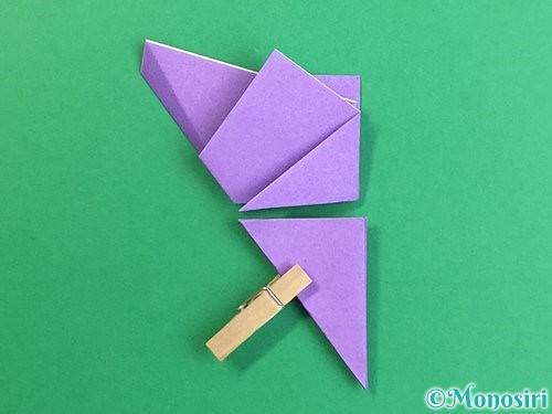 折り紙で立体的なリンドウの折り方手順14