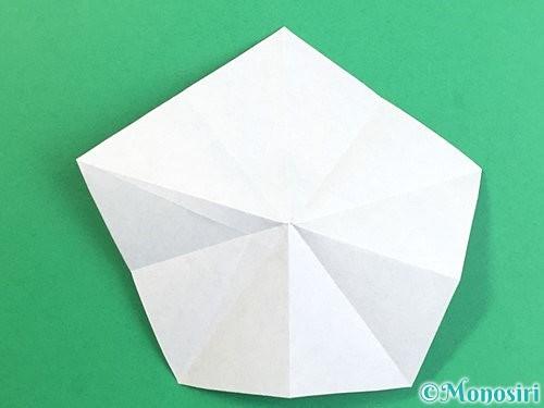 折り紙で立体的なリンドウの折り方手順15
