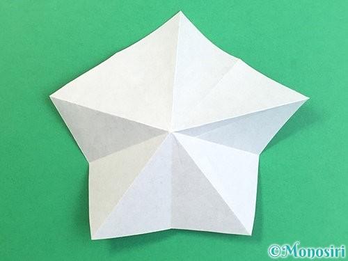 折り紙で立体的なリンドウの折り方手順17