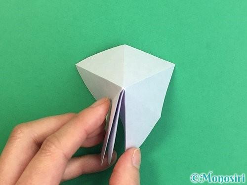 折り紙で立体的なリンドウの折り方手順18