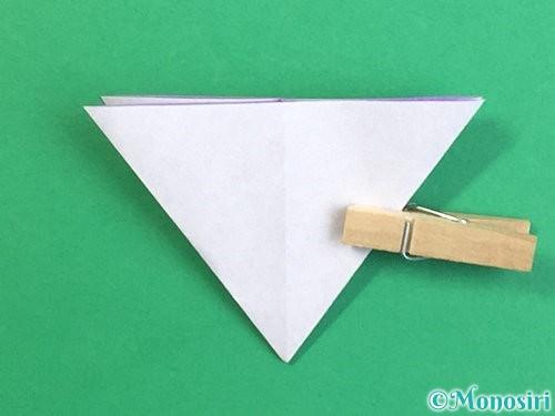 折り紙で立体的なリンドウの折り方手順20