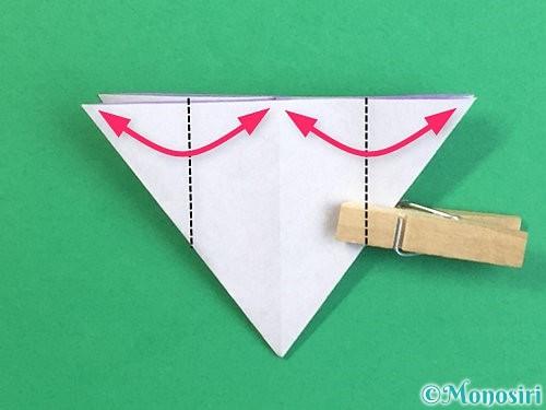 折り紙で立体的なリンドウの折り方手順21