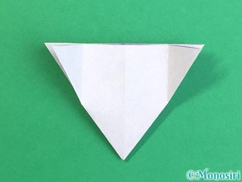 折り紙で立体的なリンドウの折り方手順22