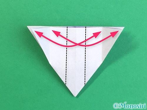 折り紙で立体的なリンドウの折り方手順23