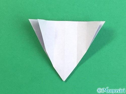 折り紙で立体的なリンドウの折り方手順24